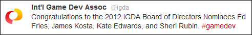 IGDA Tweet Quote